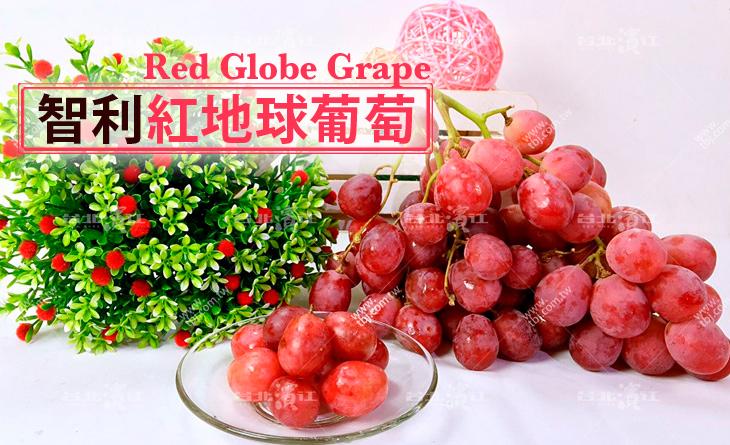 【台北濱江】果肉彈脆、酸甜美味!智利紅地球葡萄 1KG裝
