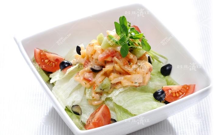 【台北濱江】咬下去感受的到一粒粒啵啵口感的飛魚卵-新鮮美味輕食料理-龍蝦沙拉250g