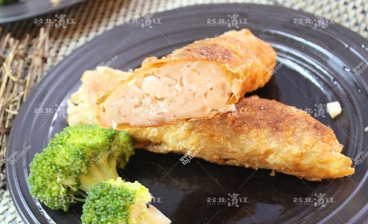 【台北濱江】傳統風味金黃花枝捲,餡料飽滿酥酥脆脆的外皮-超大脆皮花枝捲200g條x3條