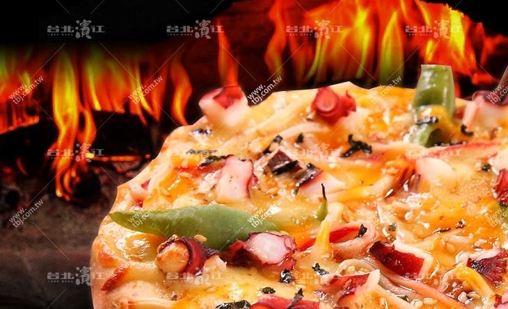 【台北濱江】照燒醬配上蟹肉絲與章魚,超乎想像的過癮!!薄皮-和風章魚燒比薩6吋/包