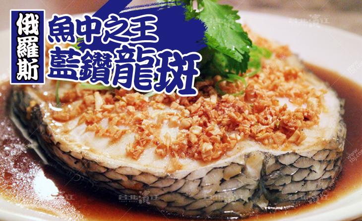 【台北濱江】魚中之王,肉質扎實無腥味~藍鑽龍斑魚-輪切 500-560g/片