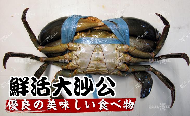 超人氣鮮活大沙公500-600g/隻x2~清蒸吃原味最讚!蟹膏飽滿~肉質肥美