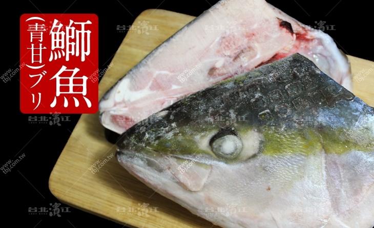【台北濱江】幕府將軍的御用料理!高級日本料理店才吃的到~日本青甘魚頭700-900g/顆