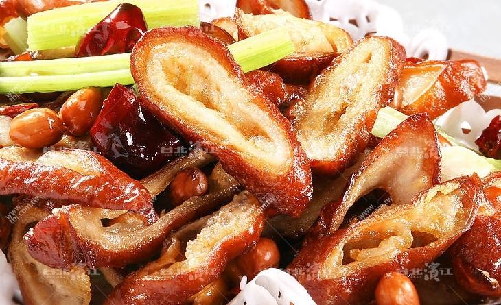【台北濱江】滷的香嫩入味~單吃或是再加點蒜苗辣椒炒過都好好吃?滷大腸頭 2條/包
