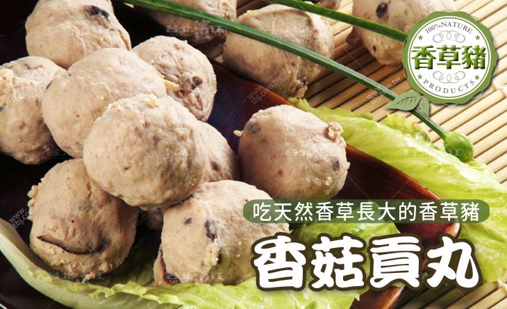 【台北濱江】特選香菇的清香甘甜,搭配豬後腿肉,純手工製作~香草豬香菇貢丸400g/包