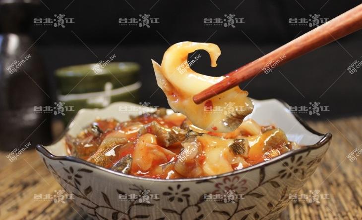 【台北濱江】香辣Q彈辣中帶勁好下飯!配啤酒超讚的濱江 市場 餐廳~~韓式海螺片200g/包