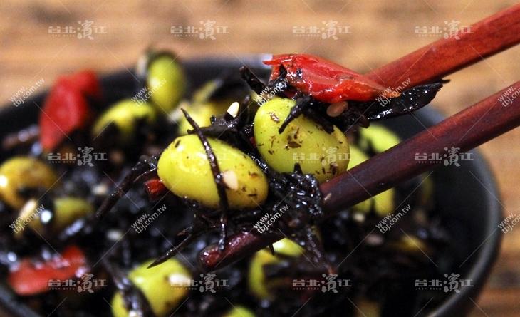 【台北濱江】單吃OK拌飯做飯團也OK~加了毛豆更濱江 市場 大閘蟹增添了口感~毛豆羊栖菜200g/包