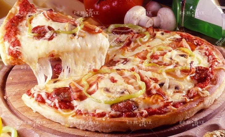 【台北濱江】清爽好吃絕對顛覆對新 北市 美食 推薦奶素比薩的印象!薄皮-椰菜鮮菇比薩奶素6吋/包x6